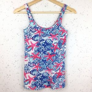 Lilly Pulitzer Printed Tabbie Tank Top She Shells